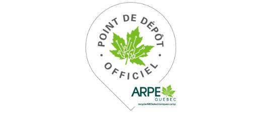 Point de dépôt officiel d'ARPE Québec