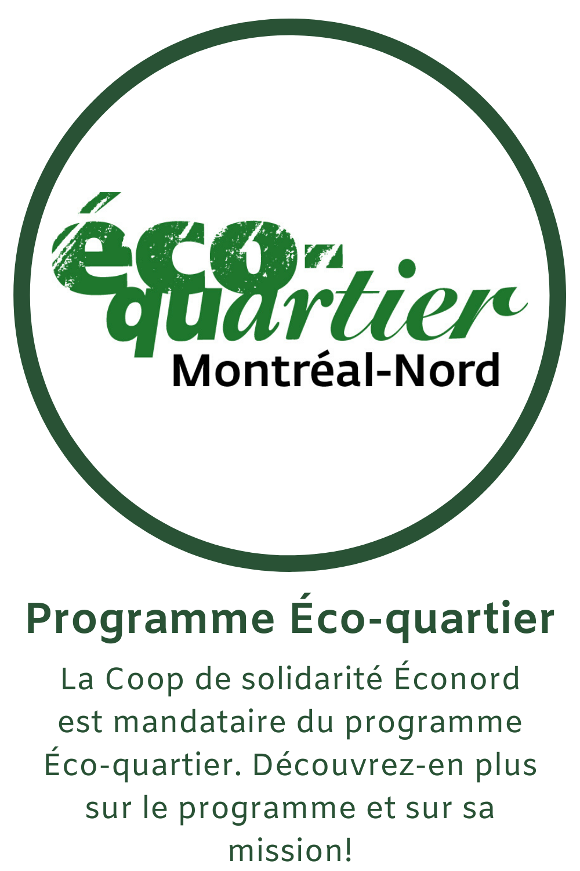 La Coop de solidarité Éconord est mandataire du programme Éco-quartier. Découvrez-en plus sur le programme et sur sa mission!