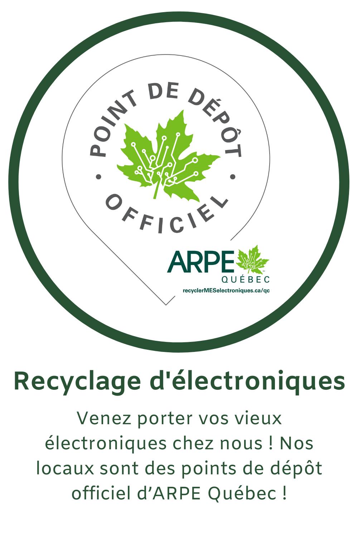 Recyclez vos vieux électroniques chez nous !